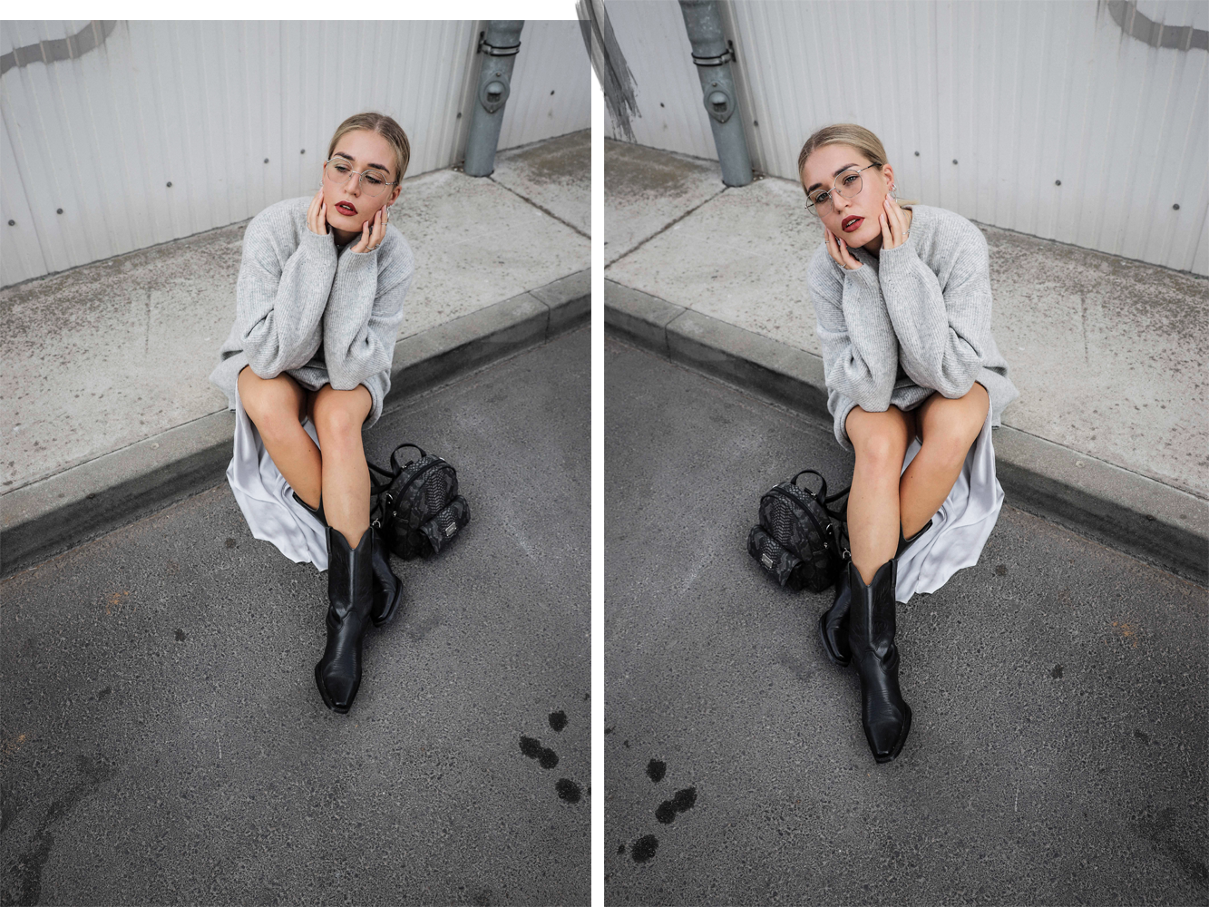 Lauralamode Outfit Autumn Herbst Streetstyle Knit Vintage Picard Style Berlin Fashion Fashionblogger Look