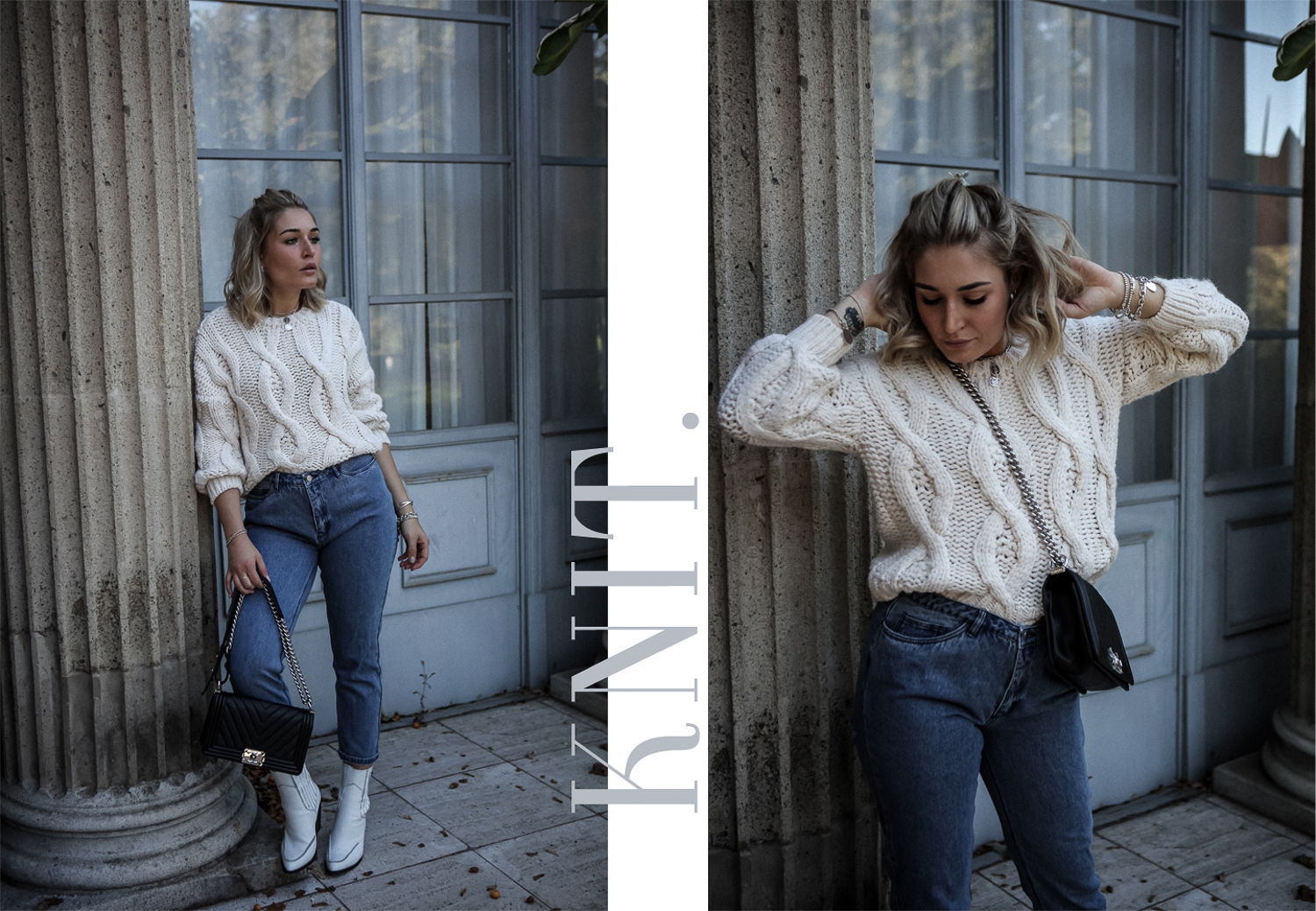 Lauralamode Strick Knit Knitwear Strickpullover Outit Ootd Mango Nakd Chanel Only Look Streetstyle Winter Berlin Fashionblogger Blogger Munich4
