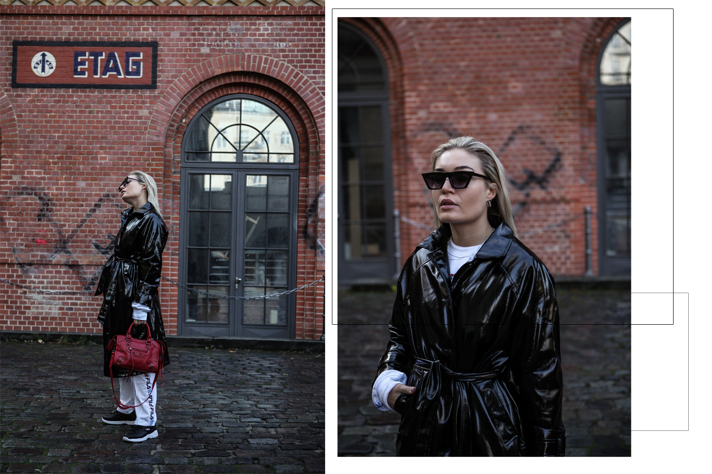 Lauralamode Fila Junkyard Outfit Latex Tracksuit Fashion Blogger Fashionblogger Look Style Streetstyle Berlin Munich5