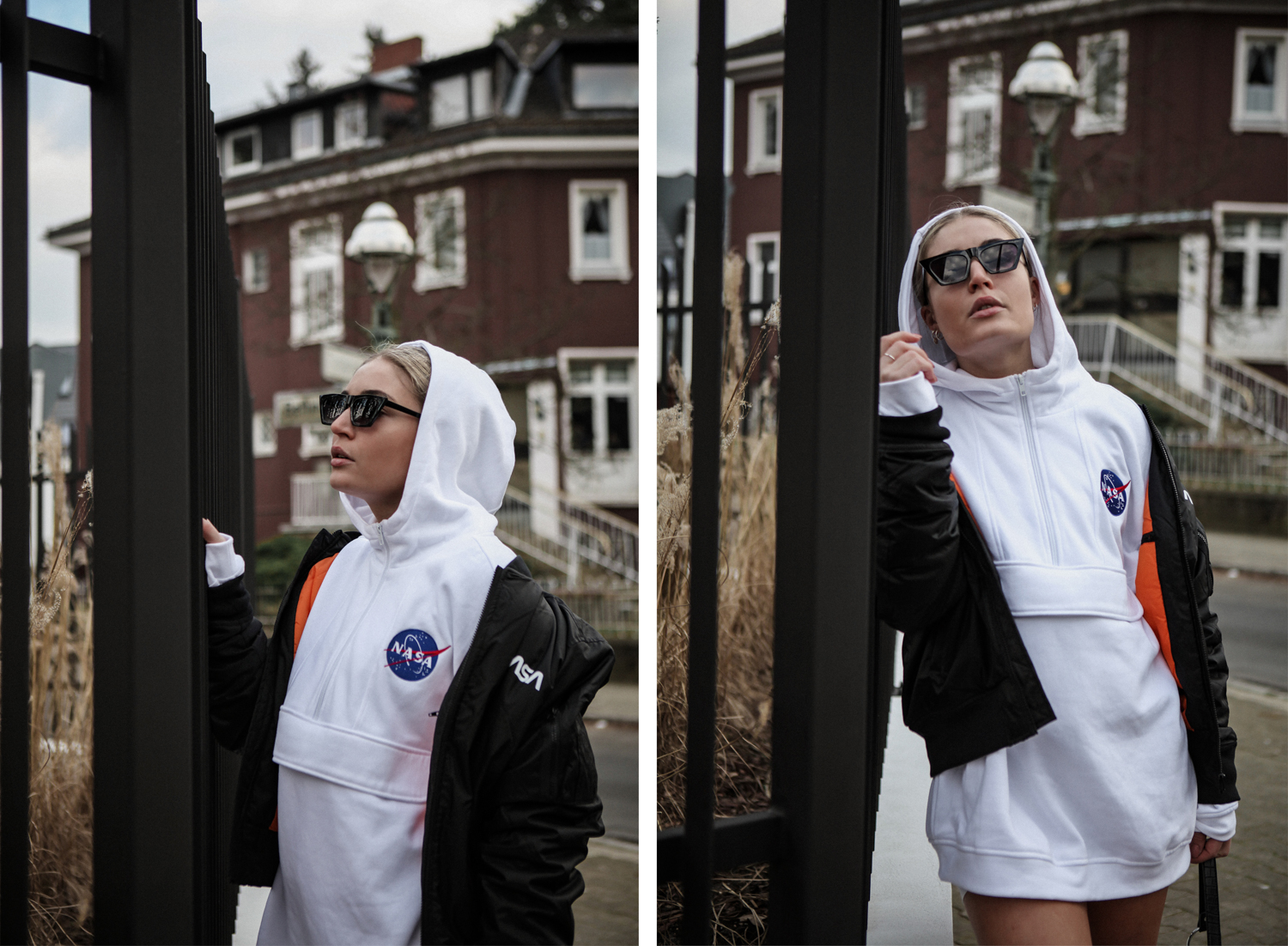 Lauralamode Urban Classics Bomber Jacket Hoodie Outfit Ootd Streetstyle Berlin Asos Nasa Fashion Fashionblogger