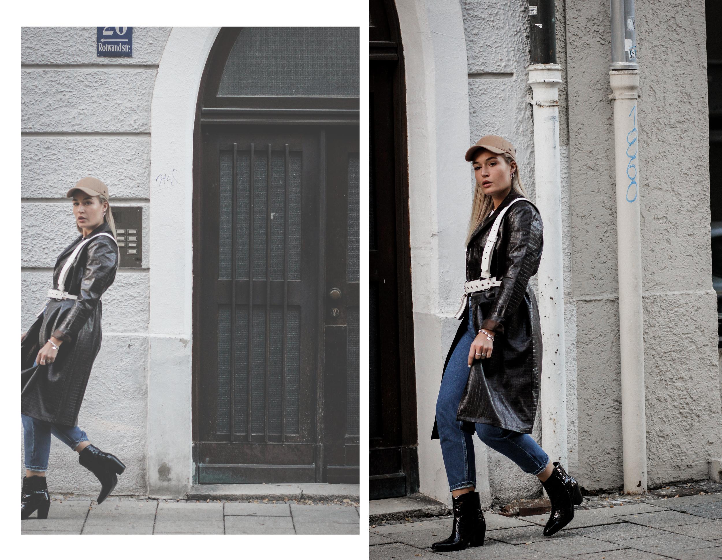 Lauralamode Fashion Blogger Fashionblogger Mantel Coat Herbst Herbsttrend Leather Coat Ledermantel Streetstyle Look Ootd Munich Berlin Deutschland2