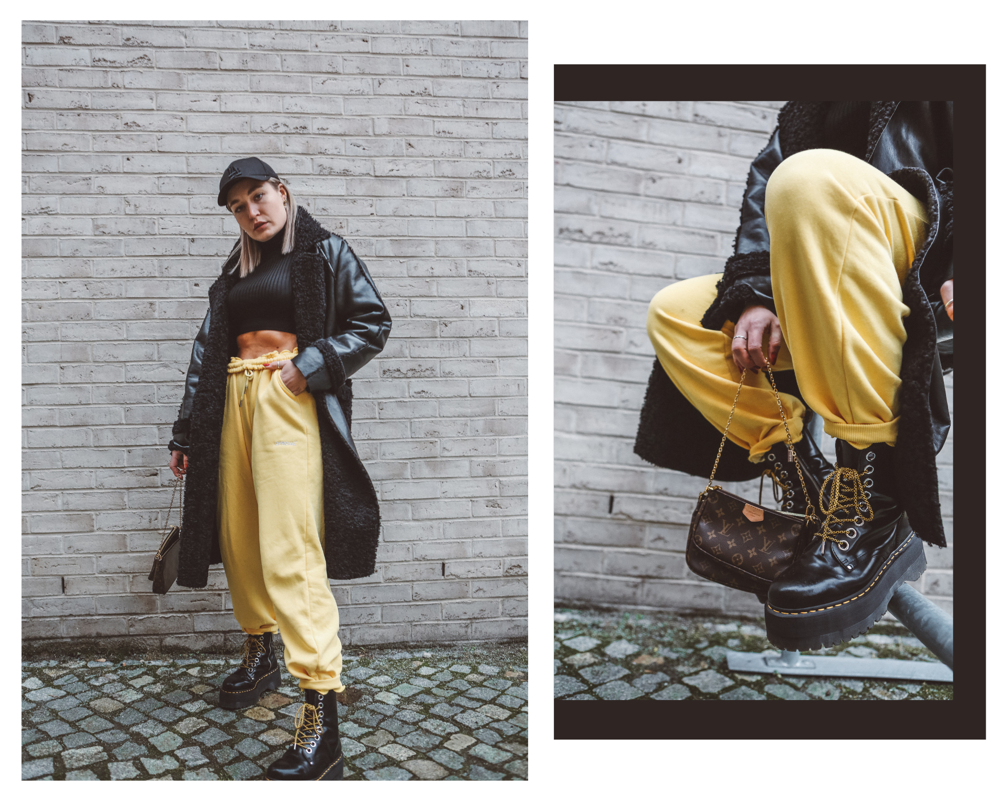 Lauralamode Outfit Streetstyle Style Look Outfitoftheday Fashion Fashionblogger Munich Berlin Berlinblogger Munichblogger Louis Vuitton Multipochette Doc Martens Jogger Style Winter Streetstyle5